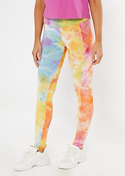 Pastel Rainbow Tie Dye Cell Phone Pocket Leggings