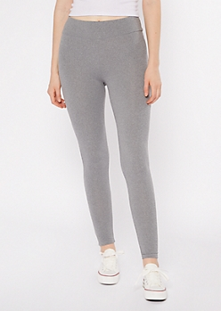 Gray Ruched Back Super Soft Leggings