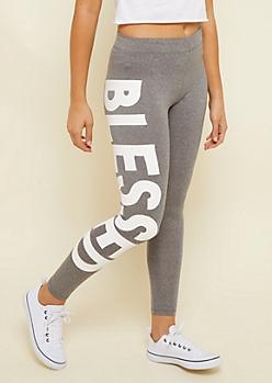 Heather Gray Super Soft Blessed Leggings