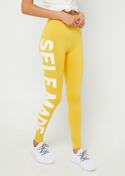 Dark Yellow Super Soft Self Made Leggings