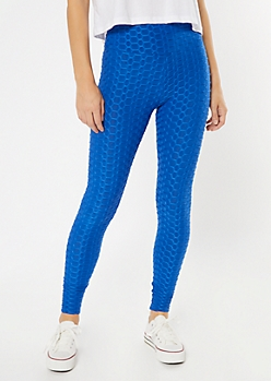 Royal Blue Honeycomb Leggings
