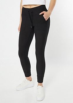 Black Ribbed Knit Super Soft Leggings