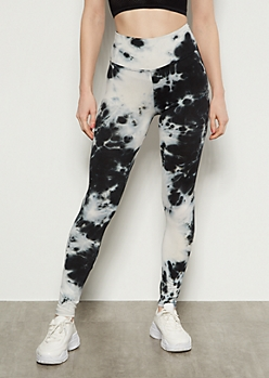 Black Tie Dye Super Soft Essential Leggings