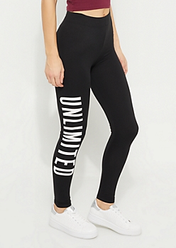 Black Unlimited Soft Brushed Leggings