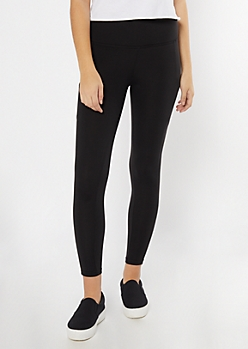 Black Super Soft Cell Phone Pocket Leggings