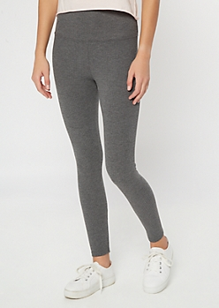 Charcoal Gray Ribbed Knit Super Soft Leggings