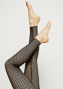 Black Mesh Fishnet Leggings