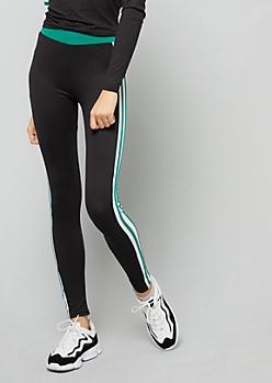 Green Side Striped Super Soft High Waisted Leggings