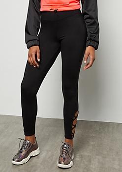 Black Super Soft Lattice High Waisted Leggings