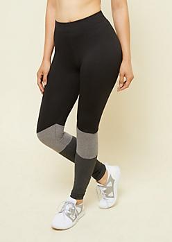 Black Colorblock High Waisted Super Soft Leggings