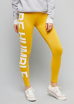 Yellow Be Humble High Waisted Leggings