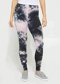 Light Pink Tie Dye Soft Knit Leggings
