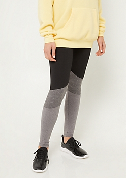 Black High Rise Colorblock Leggings