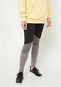 Black High Waisted Colorblock Leggings