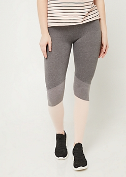 Light Pink High Rise Colorblock Leggings