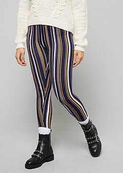Navy Striped Super Soft Leggings