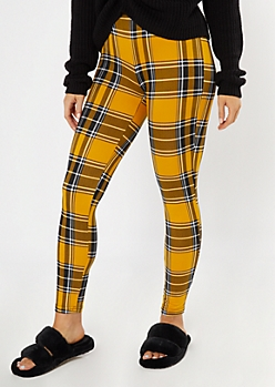 Yellow Plaid Super Soft Leggings