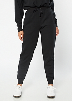 Black High Waisted Boyfriend Joggers