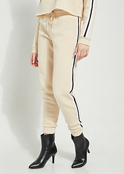 Nude Athletic Stripe High Waist Joggers