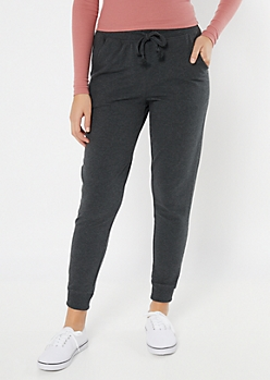 Gray Essential High Waisted Cozy Joggers