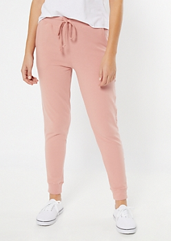 Pink Essential High Waisted Cozy Joggers