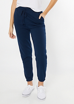 Navy Essential Extra High Waisted Joggers