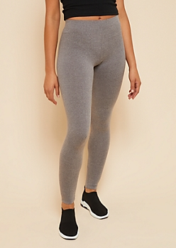 Heather Gray Super Soft Basic High Waisted Leggings