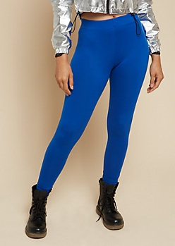 Royal Blue Super Soft Basic High Waisted Leggings
