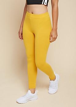 Mustard Super Soft Basic High Waisted Leggings