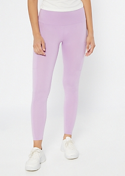 Lavender High Waisted Cell Phone Pocket Leggings