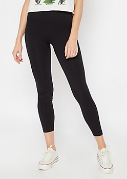 Black Wide Waistband Slimming Leggings