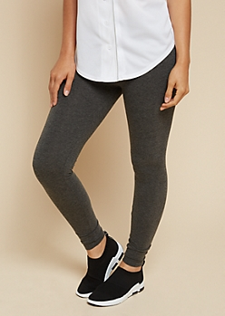 Gray Marled High Waisted Athletic Leggings