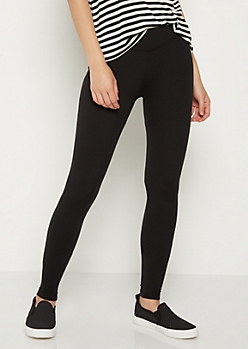 Black Mid Rise Leggings