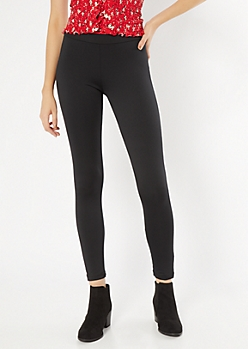 Black Mid Rise Shaping Booty Leggings