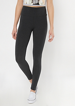 Charcoal Gray Essential High Rise Leggings