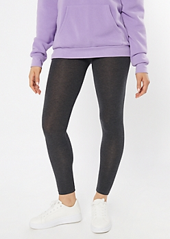Gray Mid Rise Favorite Leggings