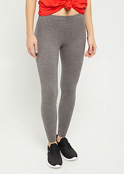 Heather Gray Essential Super Soft Mid Rise Leggings