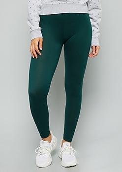 Green Essential Super Soft Mid Rise Leggings