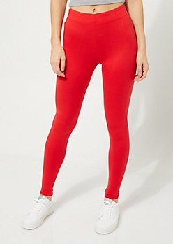 Red Soft Brushed Leggings