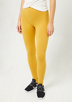 Dark Yellow Super Soft Leggings