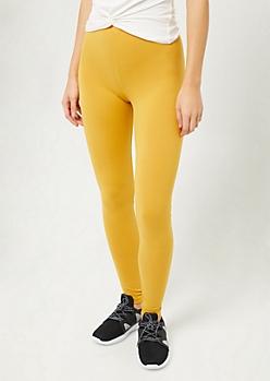 Dark Yellow Super Soft Leggings