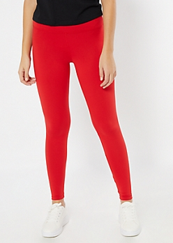 Red High Waisted Super Soft Favorite Leggings