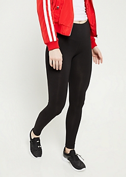 Black High Waisted Cotton Leggings