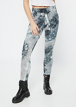 Gray Tie Dye Super Soft Joggers
