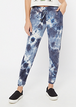 Blue Tie Dye Super Soft Cinched Joggers