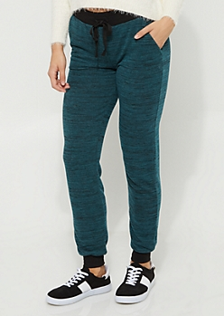 Dark Green Be Humble Hacci Knit Joggers
