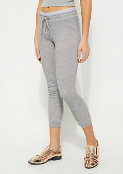Heather Gray Double Waistband Joggers