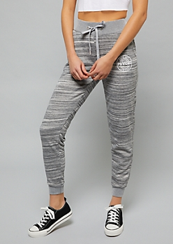 Light Gray Space Dye Psycho Joggers