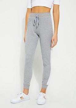 Gray Stripe Knit Jogger
