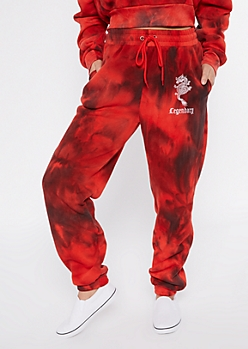 Red Tie Dye Legendary Boyfriend Joggers